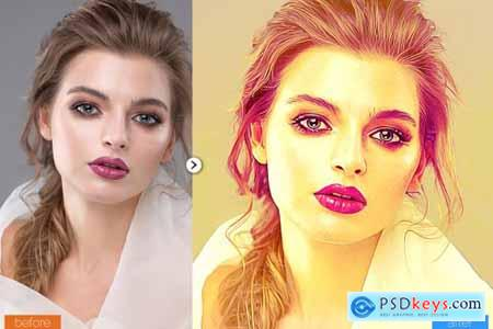 Realistic Painting Photoshop Action 5444568