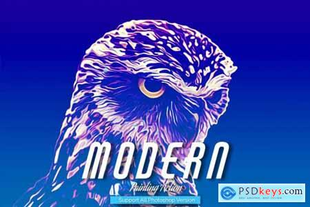 Modern Painting Art Photoshop Action 5444685