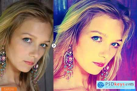 Modern Painting Photoshop Action 5444573