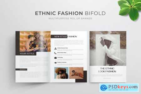 Ethnic Fashion Bifold Brochure