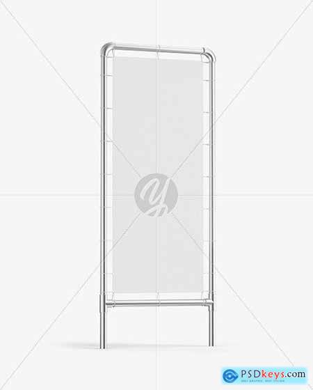 Metallic Stand w- Fabric Banner Mockup 67779