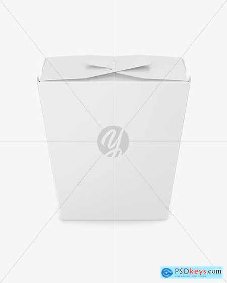 Matte Paper Noodles Box Mockup 67794