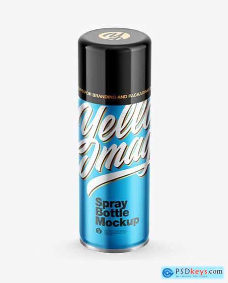 Matte Mettalic Spray Bottle with Glossy Cap 67580