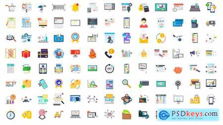 100 Digital Marketing & E-Commerce Icons 28780374
