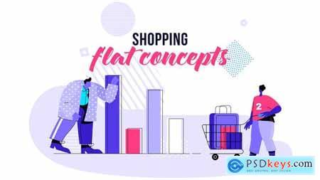 Shopping - Flat Concept 28730465