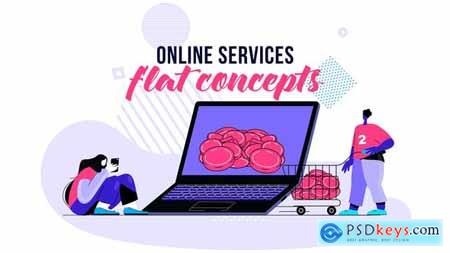 Online services - Flat Concept 28730457