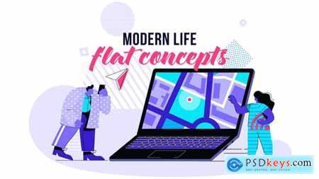 Modern life - Flat Concept 28730449