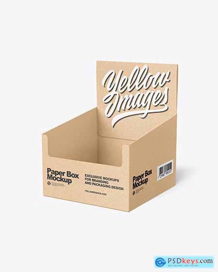 Kraft Paper Display Box with Boxes Mockup 67807