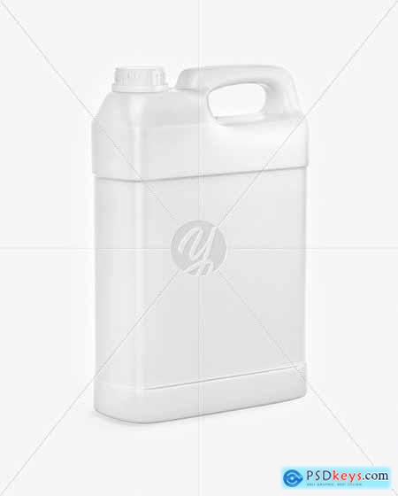 Textured Plastic Jerry Can Mockup 63444