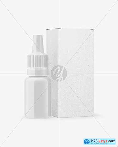 Glossy Dropper Bottle with Kraft Paper Box Mockup 66613