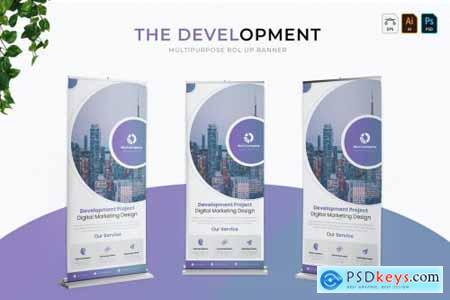 Development Banner Roll Up Banner