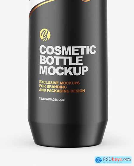 Matte Cosmetic Bottle with Pump Mockup 67773