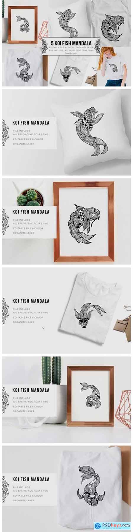 5 Koi Fish Bundle - Mandala 5795473