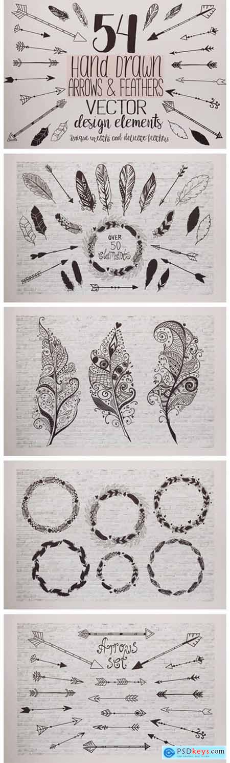 Feathers and Arrows Clipart Set 5770176