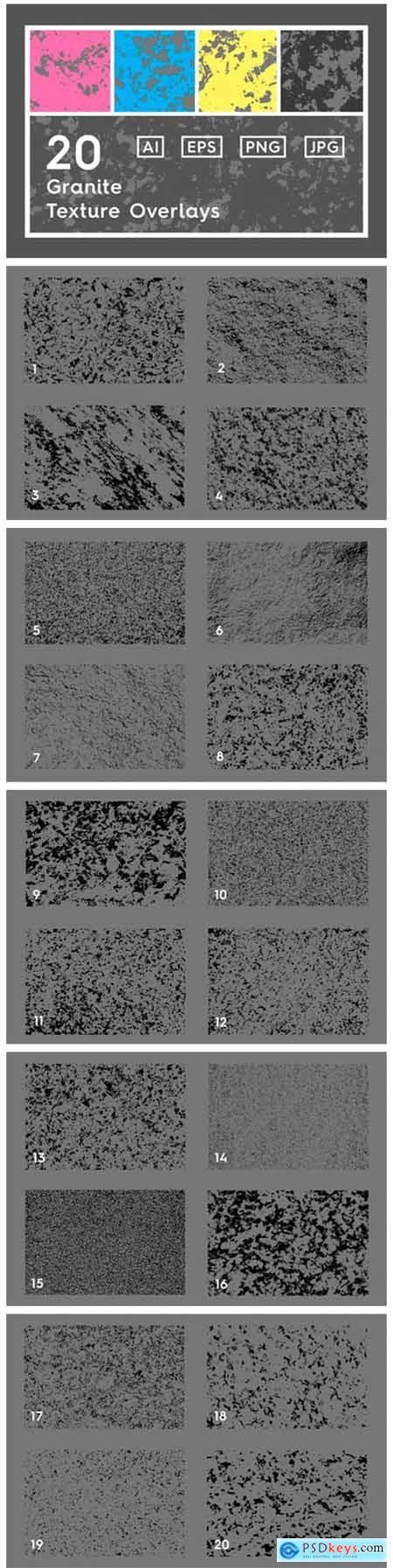 20 Granite Texture Overlays 5560478