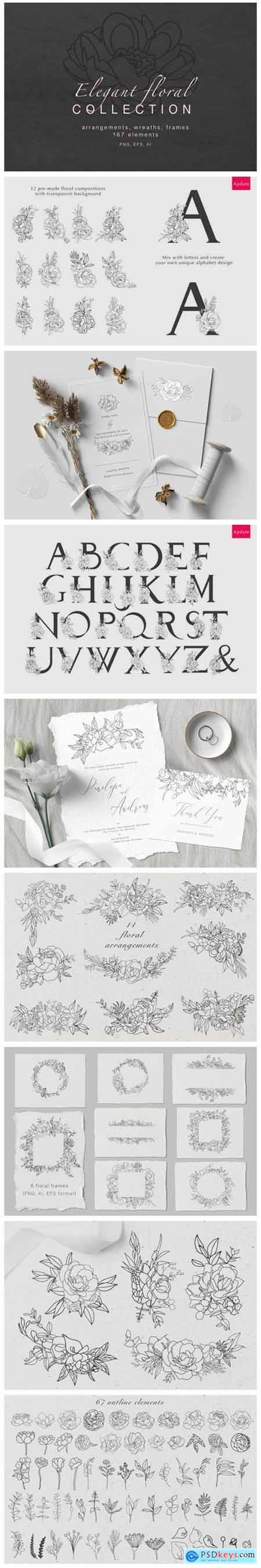 Elegant Floral Collection 4691221