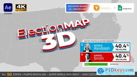 United States Election Map 3D 28786534