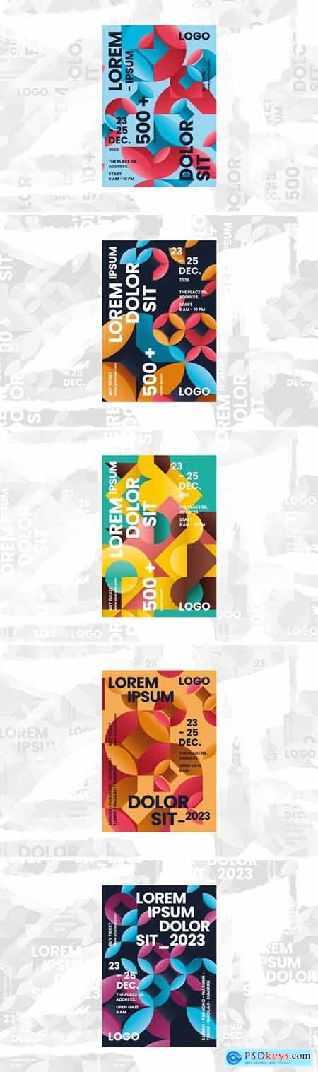 Abstract Poster Template Bundle