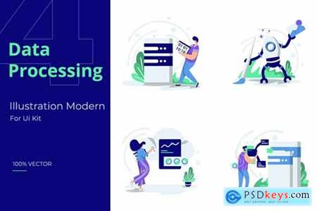 Illustration set Data Processing