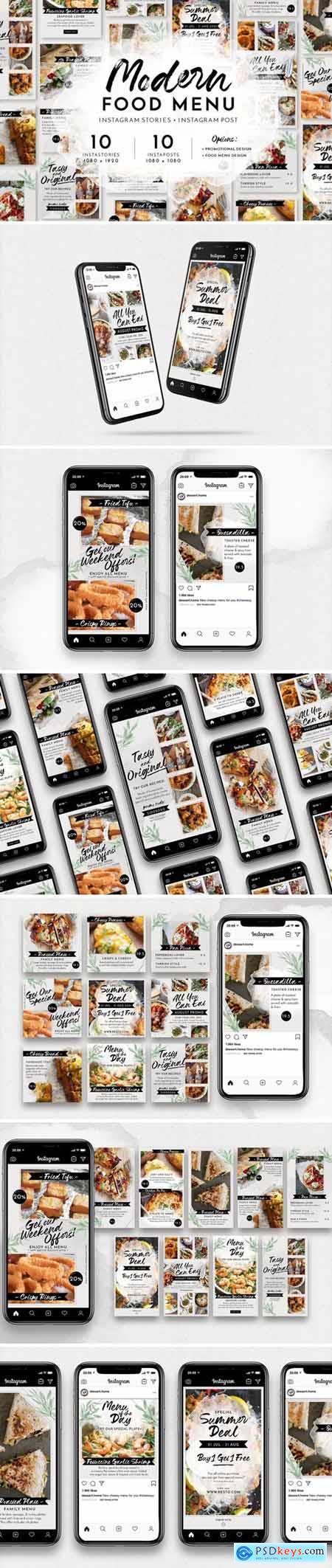 Modern Food Menu Instagram Stories