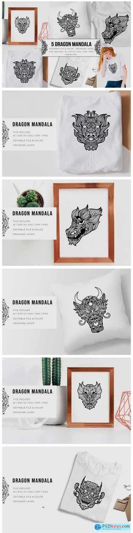 5 Dragon Bundle - Mandala 5794247