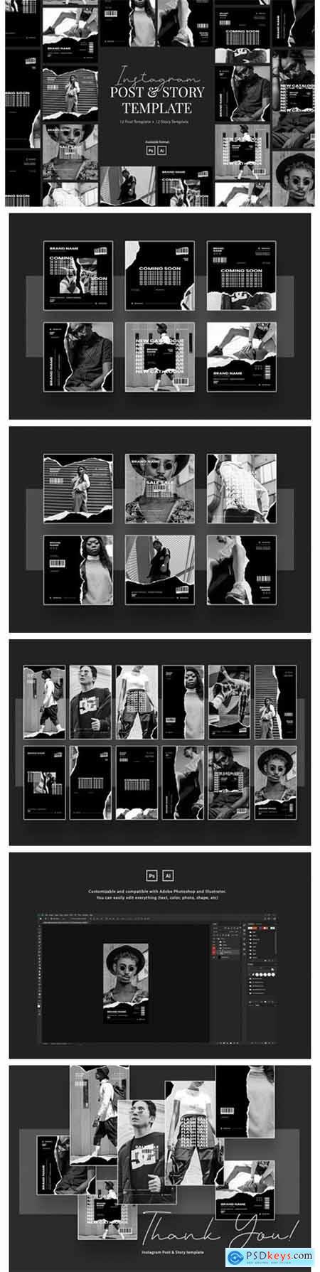 Urban Monochrome Instagram Template 5839257