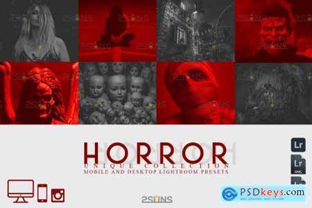 5 Halloween presets & Horror Lightroom presets, Fall presets
