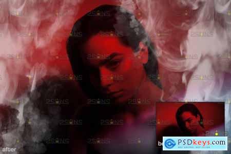 White smoke bomb overlay & Fog overlay, Photoshop overlay