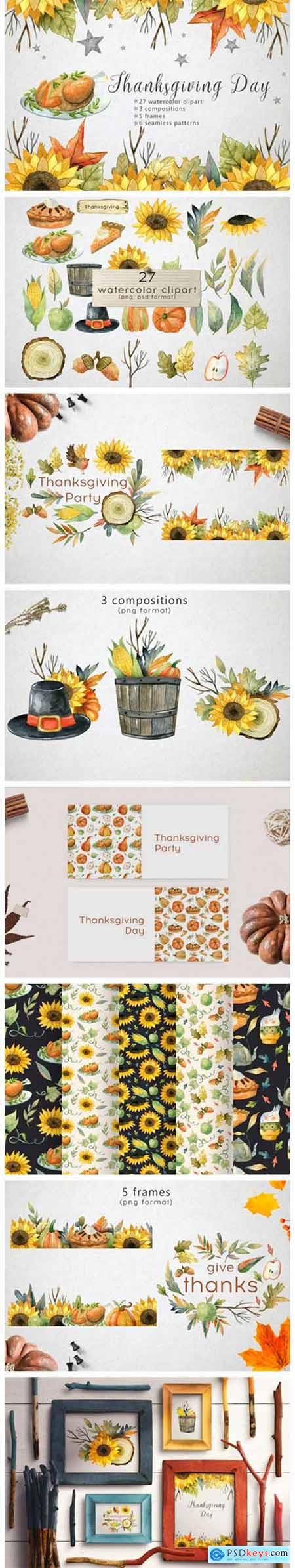 Watercolor Thanksgiving Day 5889614