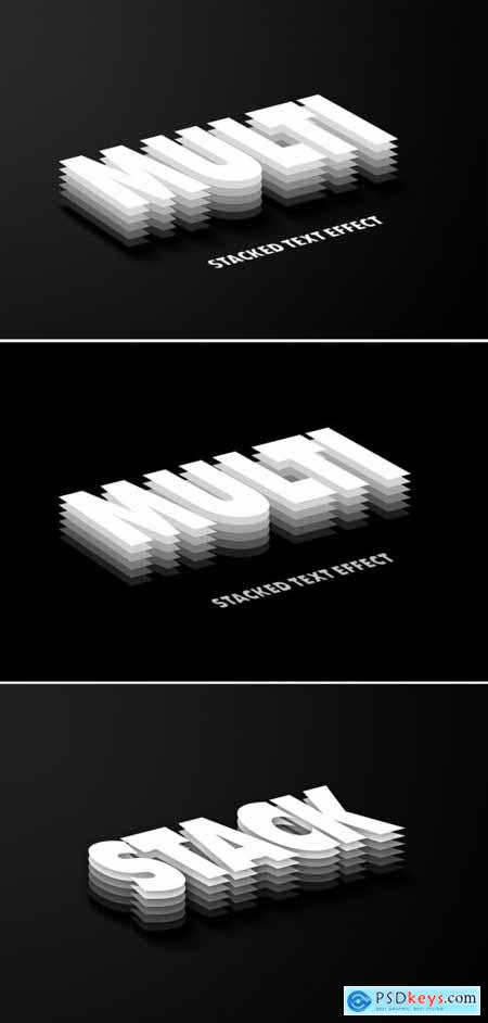 Multi Layered Black Logo Design Text Effect Mockup 383348111