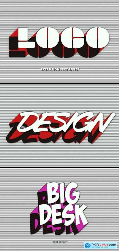 Mixed Extrusion Logo Design Text Effect Mockup 383360912