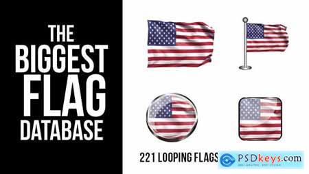 221 Looping World Flags 9255626