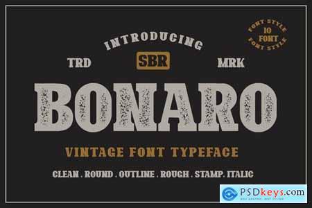 10 Font - Bonaro Font Family