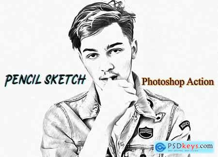 Pencil Sketch Photoshop Action 4822405