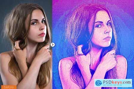 Modern Sketch Photoshop Action 5467530
