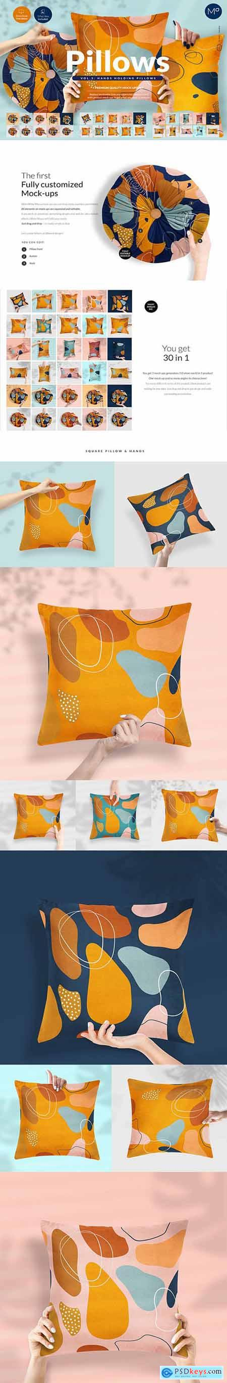 Pillows vol.3- with Hands Mock-ups 5312420