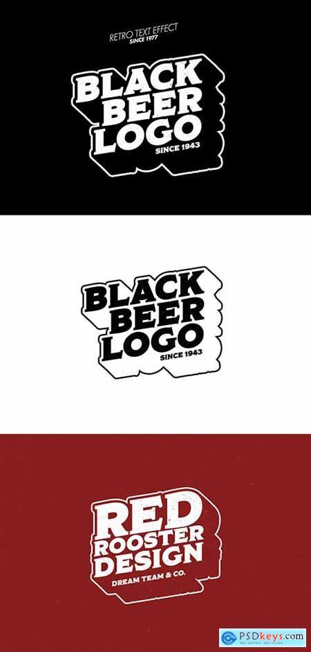 Black Outlined Logo Design Text Effect Mockup 383354531
