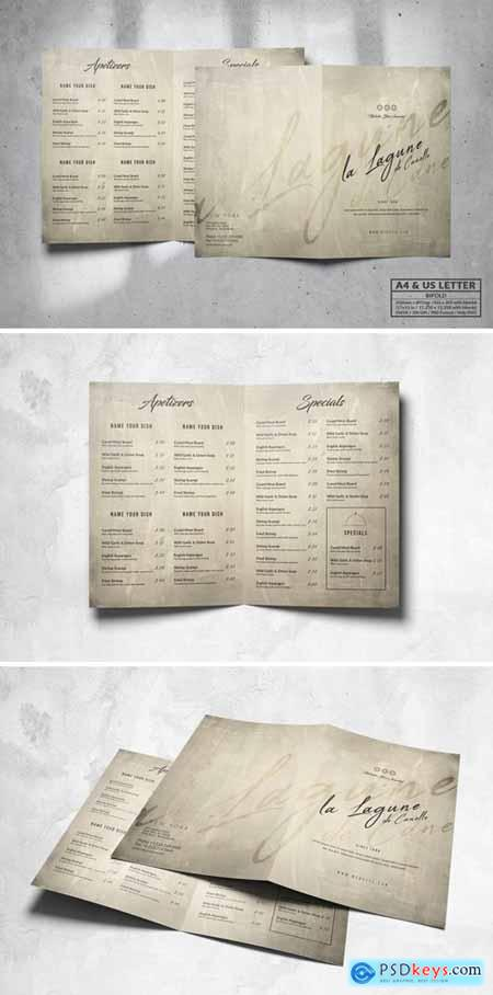 Bifold Food Menu Design A4 & US Letter TVXPPM7