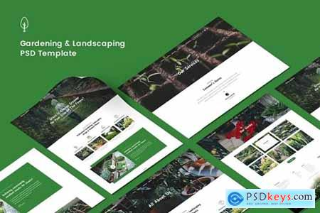 Gardening, Lawn & Landscaping PSD Template