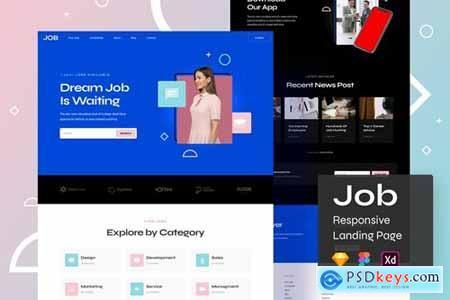 Job Responsive Landing Page