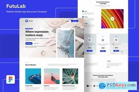 Mobile Application Website Template