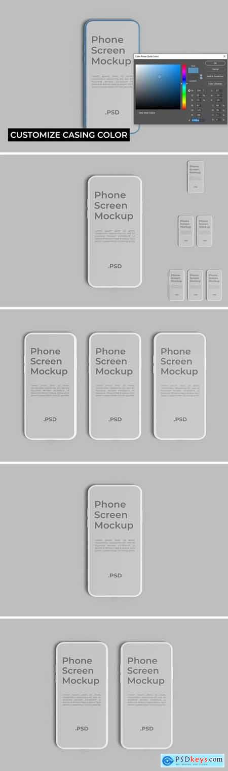 Phone Screen Mockup Photoshop Template