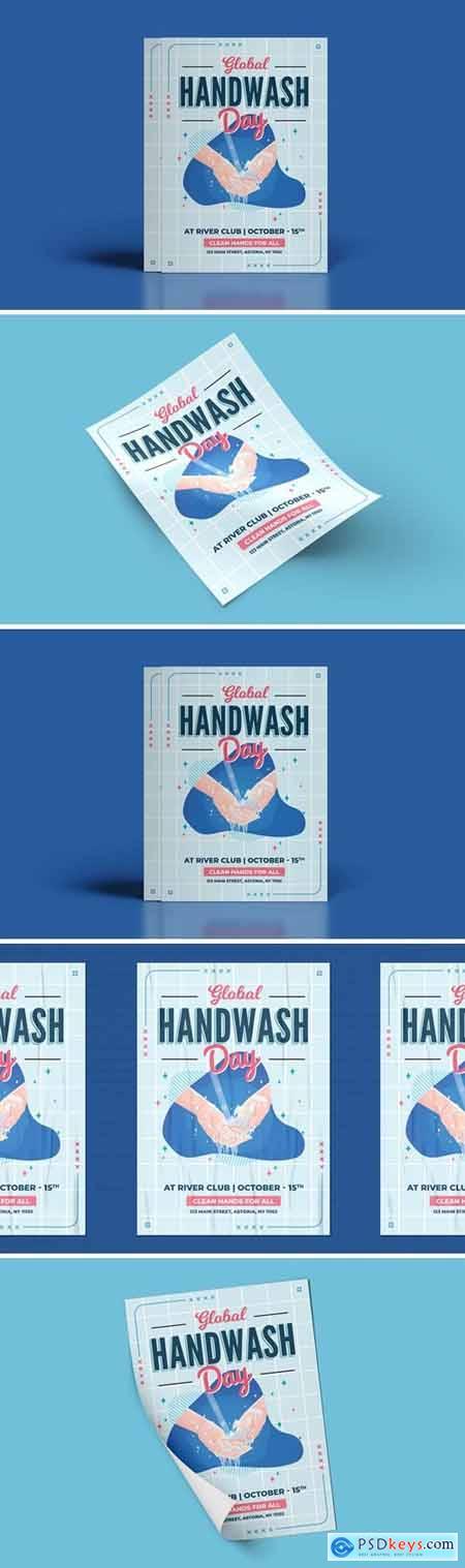 Global Handwashing Day Flyer Template