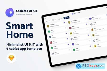Smart Home UI KIT - 6 iPad templates