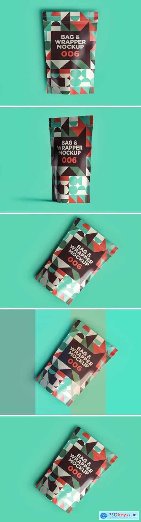 Bag & Wrapper Mockup 006