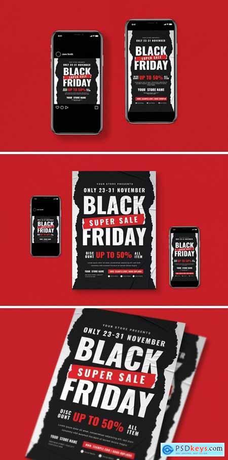 Black Friday Flyer Set