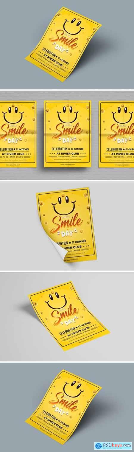 World Smile Day Flyer Template