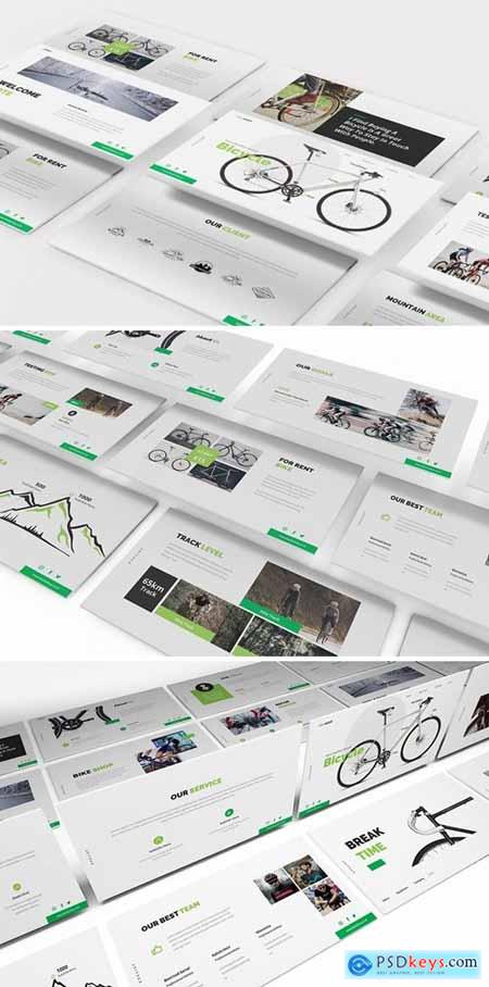 Bicycle Powerpoint, Keynote and Google Slides Templates