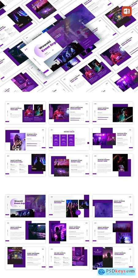 Wowohi - Event Organizer Powerpoint, Keynote and Google Slides Templates