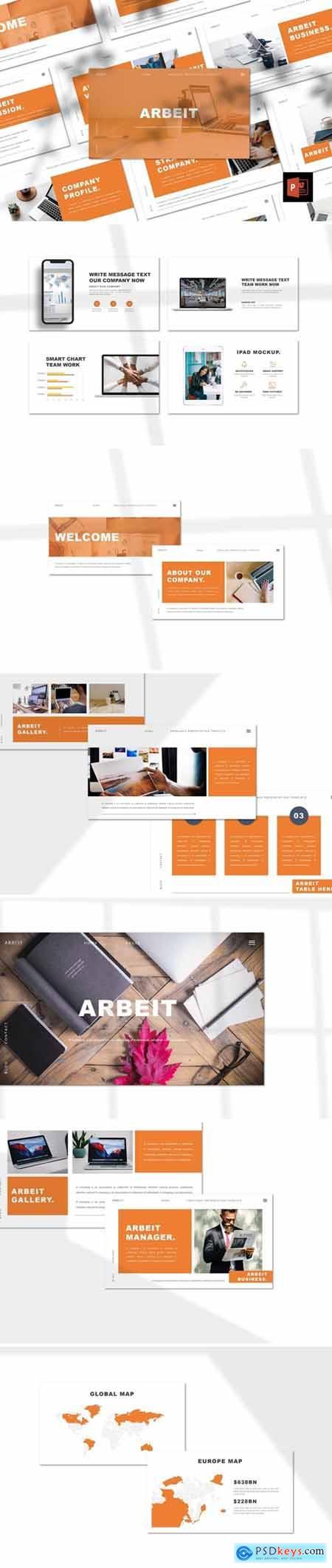 Arbeit - Portfolio Powerpoint, Keynote and Google Slides Templates